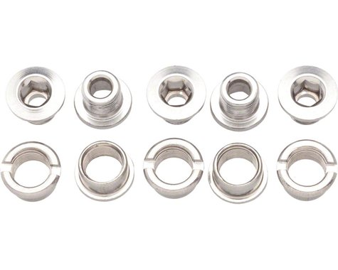 Problem Solvers Single Chainring Bolts (Silver) (Stainless)