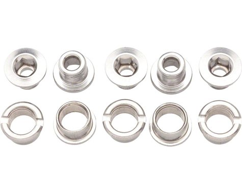 Problem Solvers Single Chainring Bolts Silver Alloy