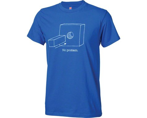 Problem Solvers Square Peg T-Shirt: Blue SM (2XL)