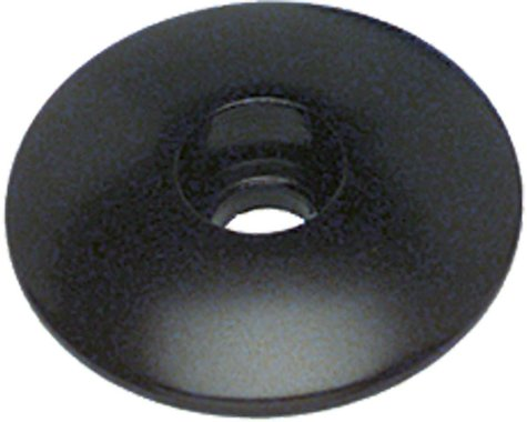 """Problem Solvers Top Cap for Alloy / Chromoly Steerers 1"""" Black"""
