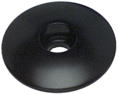 """Problem Solvers Top Cap for Alloy / Chromoly Steerers 1-1/8"""" Black"""