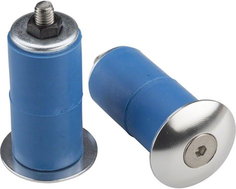 Problem Solvers Bar End Plugs: Silver