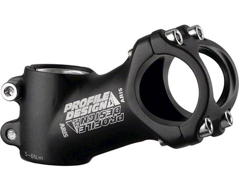 Profile Design Aris OS Stem (Black) (31.8mm Clamp) (100mm) (25°)