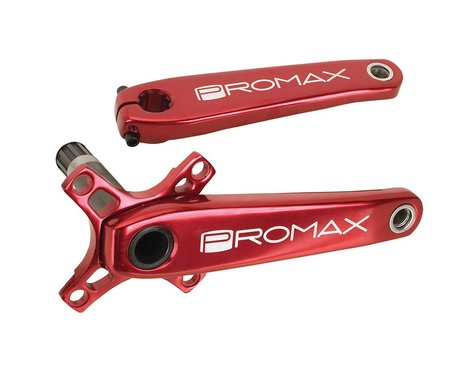 Promax HF-2 Hollow Hot Forged Crank Set (Red) (180mm)