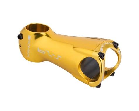 """Promax S-29 Stem - 90mm, 31.8 Clamp, +/-0, 1 1/8"""", Aluminum, Gold"""
