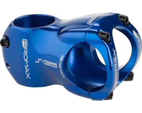 """Promax S-35 Stem - 40mm, 35 Clamp, +/-0, 1 1/8"""", Aluminum, Blue"""