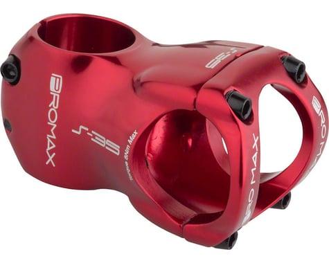 """Promax S-35 Stem - 50mm, 35 Clamp, +/-0, 1 1/8"""", Aluminum, Red"""