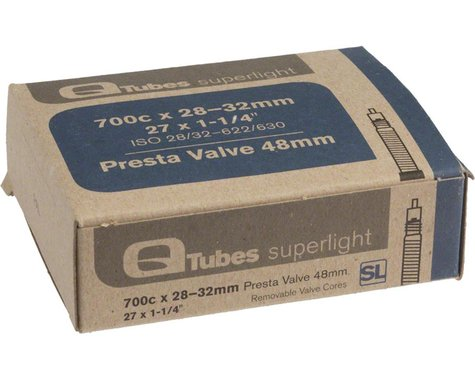 Q-Tubes Superlight 700c x 28-32mm 48mm Presta Valve Tube