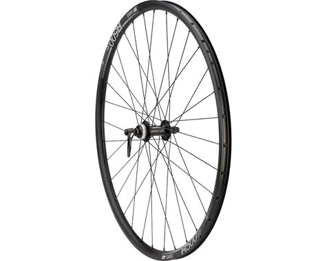 Quality Wheels 105/DT R500 Disc Front Wheel (Black) (700c) (Quick Release)