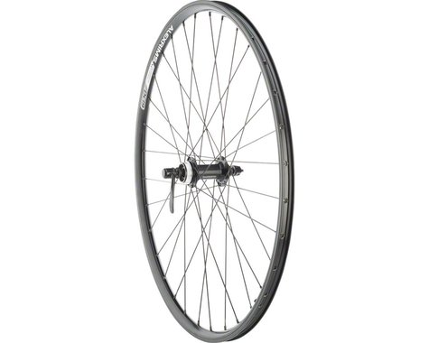 """Quality Wheels Value Double Wall Series Rim+Disc Front Wheel - 26"""", QR x 100mm,"""