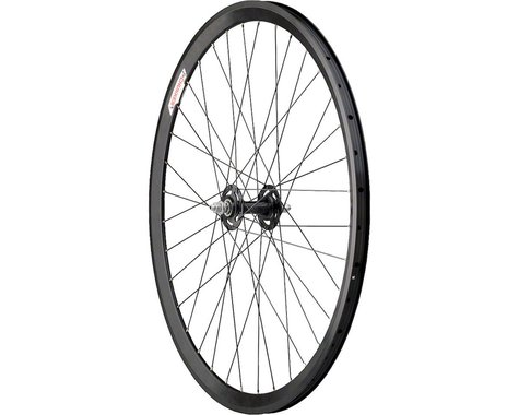 Quality Wheels All-City/Chukker Front Wheel - 700, QR x 100mm, Rim Brake, Black,