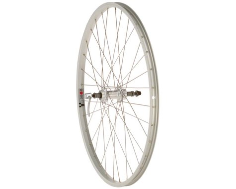 "Quality Wheels Value Series Silver Pavement Rear Wheel (26"") (Formula) (135mm) (Freewheel)"