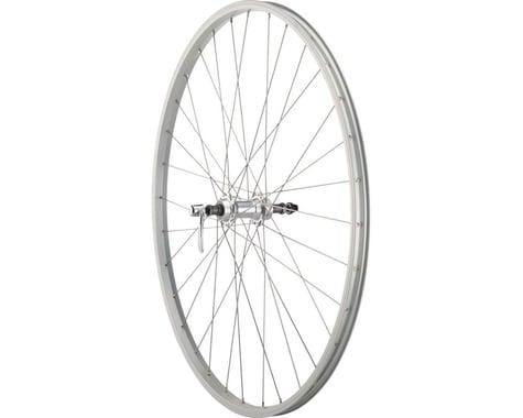 Quality Wheels Value Series Silver Rear Wheel (700c) (Rim Brake) (135mm) (Freewheel)
