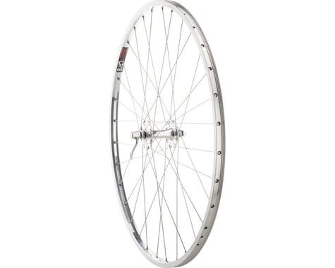 "Quality Wheels Nice 27's Front Wheel - 27"", QR x 100mm, Rim Brake, Silver, Clinc"