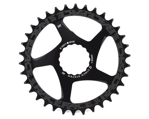 Race Face Narrow-Wide Direct Mount Cinch Chainring (Black) (3mm Offset (Boost)) (34T)