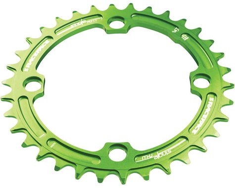 Race Face Narrow-Wide Single Chain Ring (104 BCD) (Green)