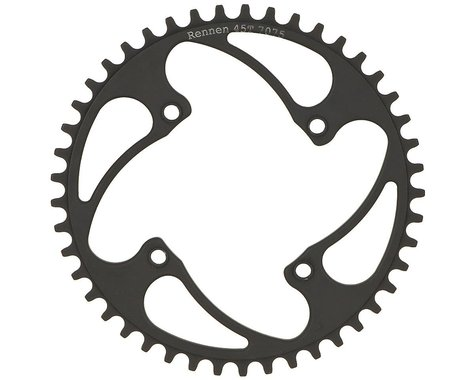 RENNEN BMX Threaded 4-Bolt Chainring (Black) (43T)