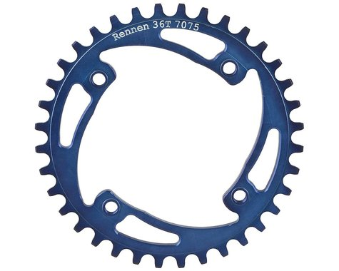 RENNEN BMX Threaded 4-Bolt Chainring (Blue) (37T)
