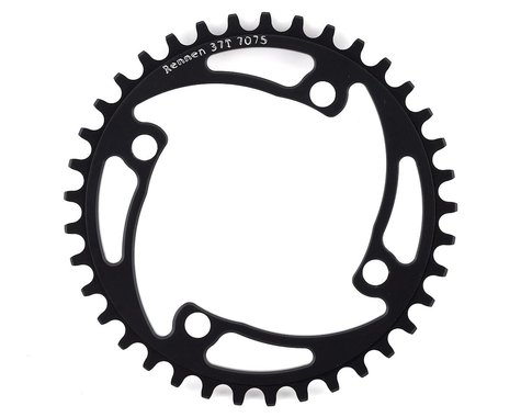 RENNEN 4-Bolt Chainring Non-Threaded (Black) (37T)