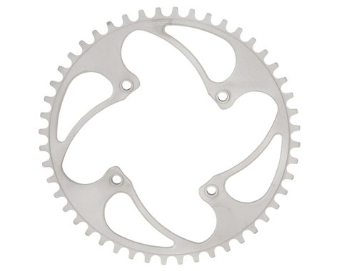 RENNEN BMX Threaded 4-Bolt Chainring (Silver) (33T)