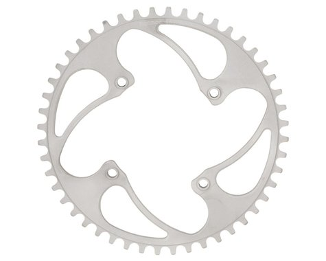 RENNEN BMX Threaded 4-Bolt Chainring (Silver) (35T)