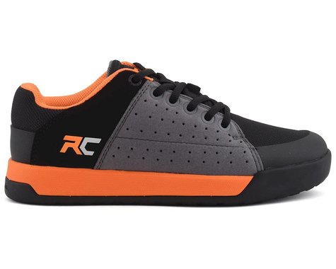 Ride Concepts Youth Livewire Flat Pedal Shoe (Charcoal/Orange) (Kids 5)