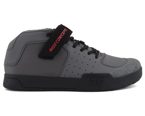 Ride Concepts Wildcat Flat Pedal Shoe (Charcoal/Red) (8)