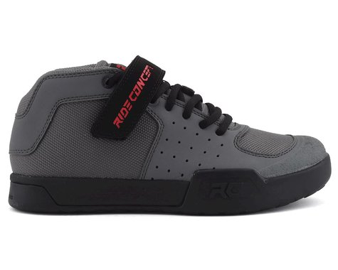 Ride Concepts Youth Wildcat Flat Pedal Shoe (Charcoal/Red) (5)