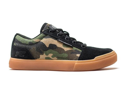 Ride Concepts Youth Vice Flat Pedal Shoe (Camo/Black) (Kids 6)