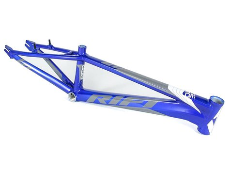 RIFT ES20 BMX Race Bike Frame (Blue/White/Grey) (Expert)