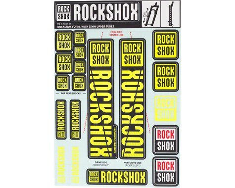 RockShox Decal Kit (35m) (Yellow)