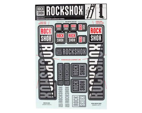 RockShox Decal Kit (35mm) (Dual Crown) (White)