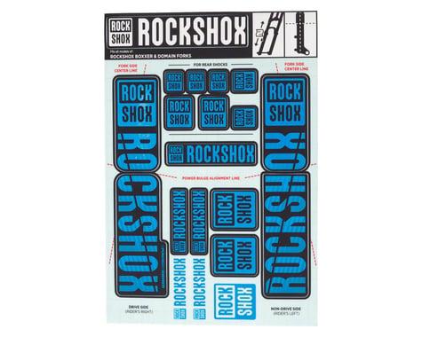 RockShox Decal Kit (35mm) (Dual Crown) (Blue)