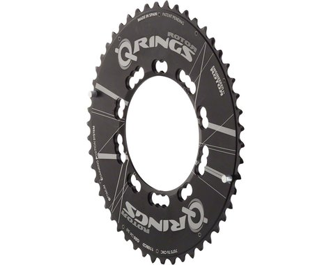 Rotor Aero Q-Ring Oval 5 Position Chainring (Black) (110mm BCD)
