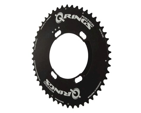 Rotor Aero Q-Ring Asym Three Position Oval Chainring (Black) (110mm BCD) (50T)