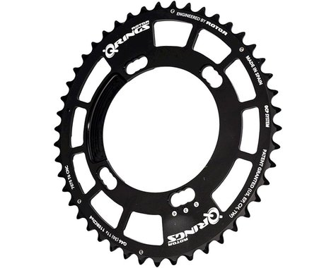 Rotor Q-Ring Asym Three Position Oval Chainring (Black) (110mm BCD) (46T)