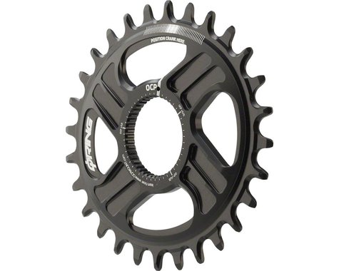 Rotor Q-Ring Direct Mount Oval Chainring: For Rotor Mountain Cranksets, 28t, Bla