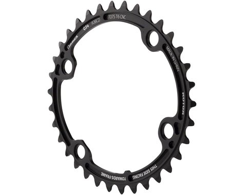 Rotor Q-Ring 110 x 4 Asymmetric BCD Oval Chainring: 34t inner for usewith 50t ou