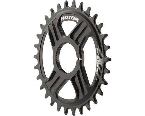 Rotor Round noQ-Ring Direct Mount Chainring for Hawk/Raptor Cranksets (30T)