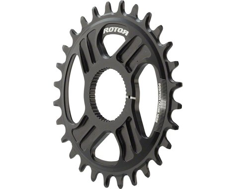 Rotor noQ Direct Mount Round Chainring for Rotor Mountain Cranksets (Black)