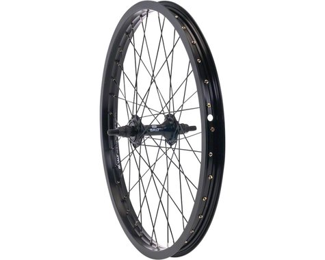 "Salt Rookie Front Wheel - 18"", 3/8"" x 100mm, Rim Brake, Black, Clincher"