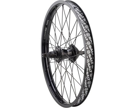 "Salt Plus Mesa Rear Wheel - 20"", 14 x 110mm, Rim Brake, Freecoaster, Black, Clin"