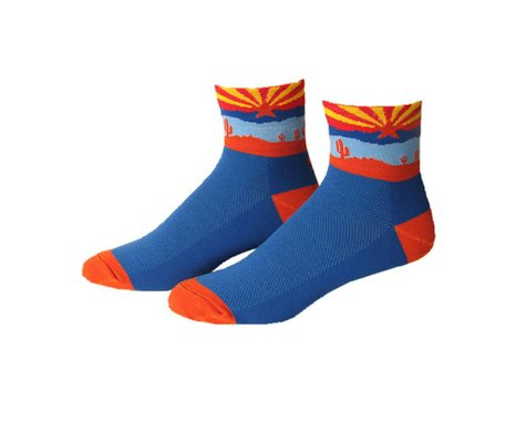 "Save Our Soles Arizona 2.5"" Socks (Blue) (M)"
