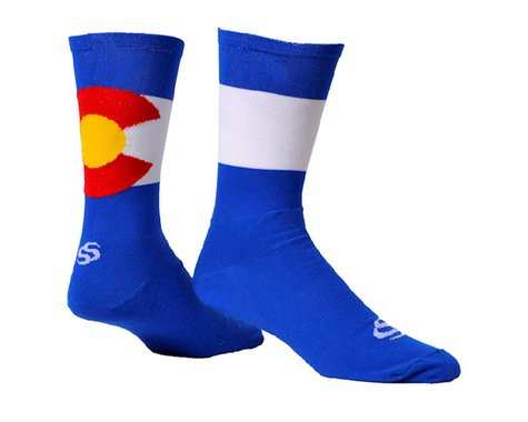 "Save Our Soles ColoRADo 7"" Socks (Blue) (M)"