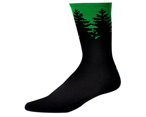 """Save Our Soles Evergreen 7"""" Socks (Green) (XL)"""