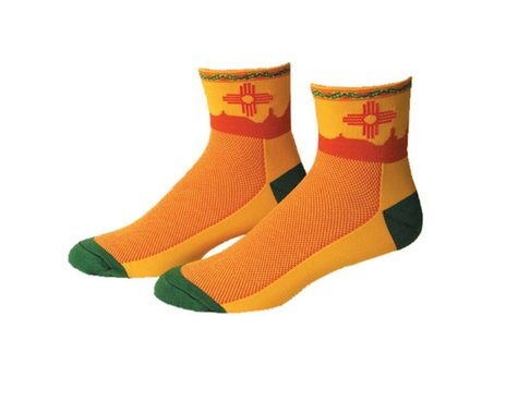 """Save Our Soles New Mexico 2.5"""" Socks (Yellow) (XL)"""