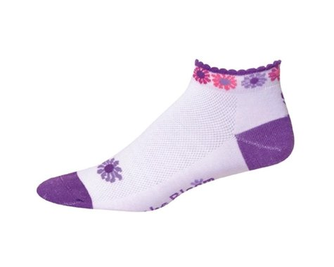 "Save Our Soles The Bloom 1"" Womens Socks (Purple)"
