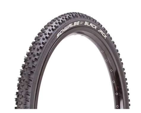 "Schwalbe Black Jack Mountain Tire (Black) (24"") (2.1"")"