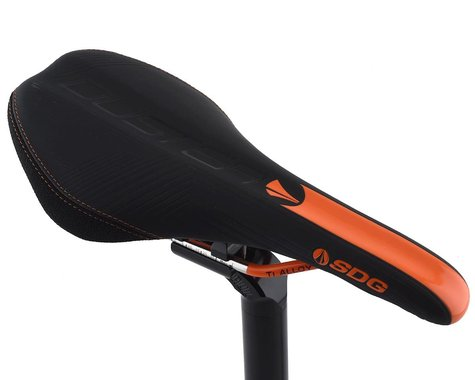 SDG Duster P MTN Saddle (Black/Orange) (Titanium Rails) (140mm)