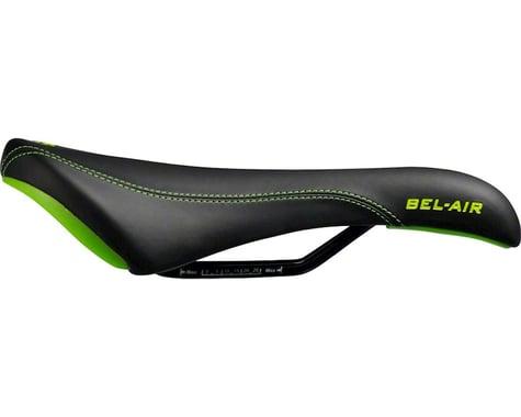 SDG Bel-Air RL Saddle (Black/Green) (Steel Rails) (140mm)